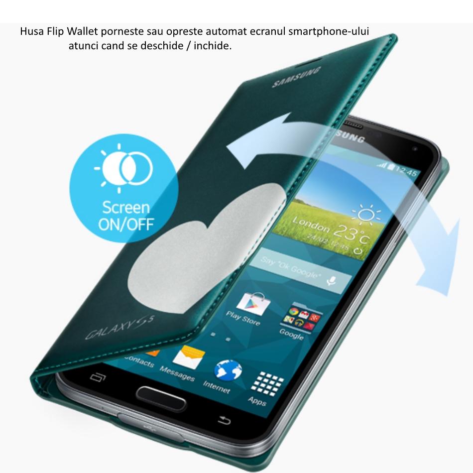 Husa Flip Wallet Cover Moschino pentru Samsung Galaxy S5 (G900) 3