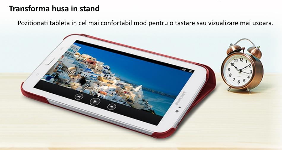Husa Stand Book Cover pentru Samsung Galaxy Tab 3 7.0 inch