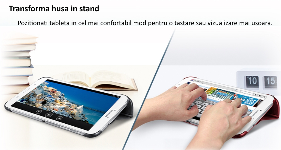 Husa Stand Book Cover pentru Samsung Galaxy Tab 3 8.0 inch 1