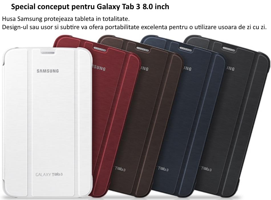 Husa Stand Book Cover pentru Samsung Galaxy Tab 3 8.0 inch