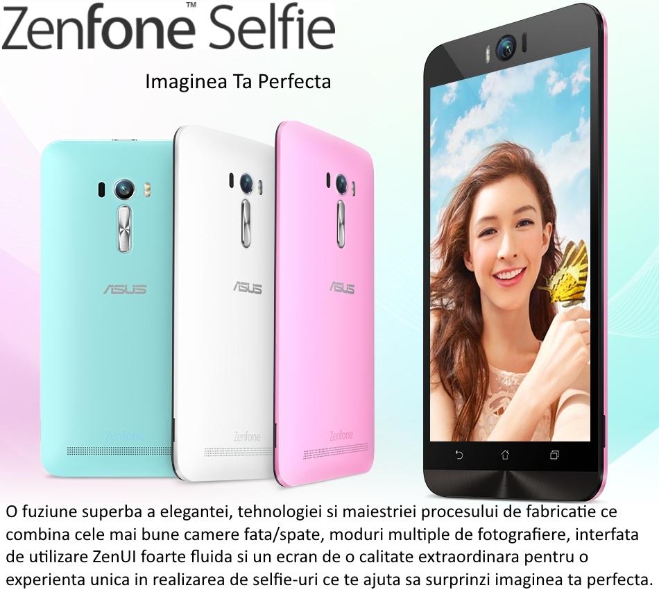 Telefon mobil Dual SIM ASUS ZenFone Selfie ZD551KL, 32GB + 3GB RAM, LTE, Black