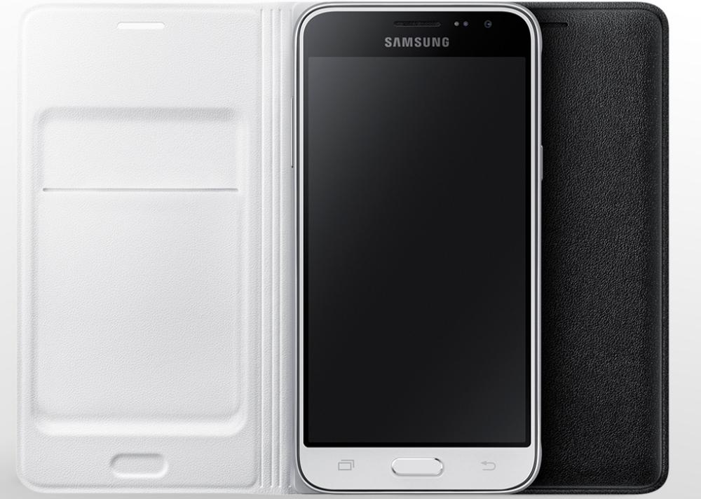 Husa Flip Wallet pentru Samsung Galaxy J1 2016 (J120), EF-WJ120PB Black 3