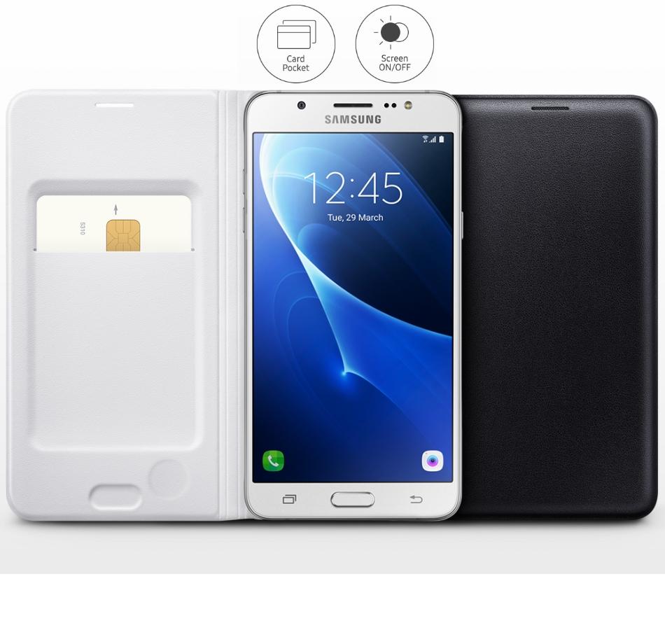 Husa Flip Wallet pentru Samsung Galaxy J7 2016 (J710), EF-WJ710PB Black 1