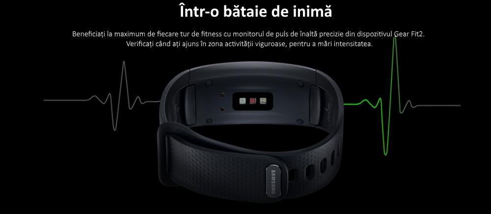 Ceas SmartWatch Samsung Gear Fit 2, SM-R360 Dark Gray 2