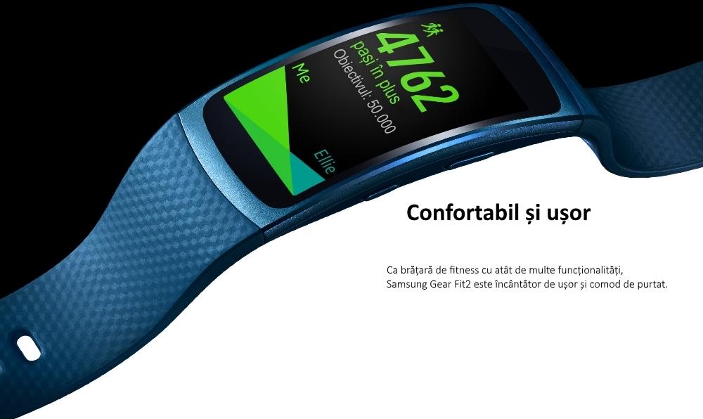 Ceas SmartWatch Samsung Gear Fit 2, SM-R360 Dark Gray 4
