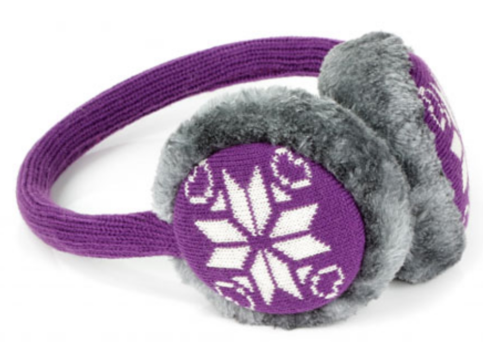 Aparatori urechi KitSound Snowflake, cablu cu mufa de 3.5mm, KSMUFSFPU1 Mov
