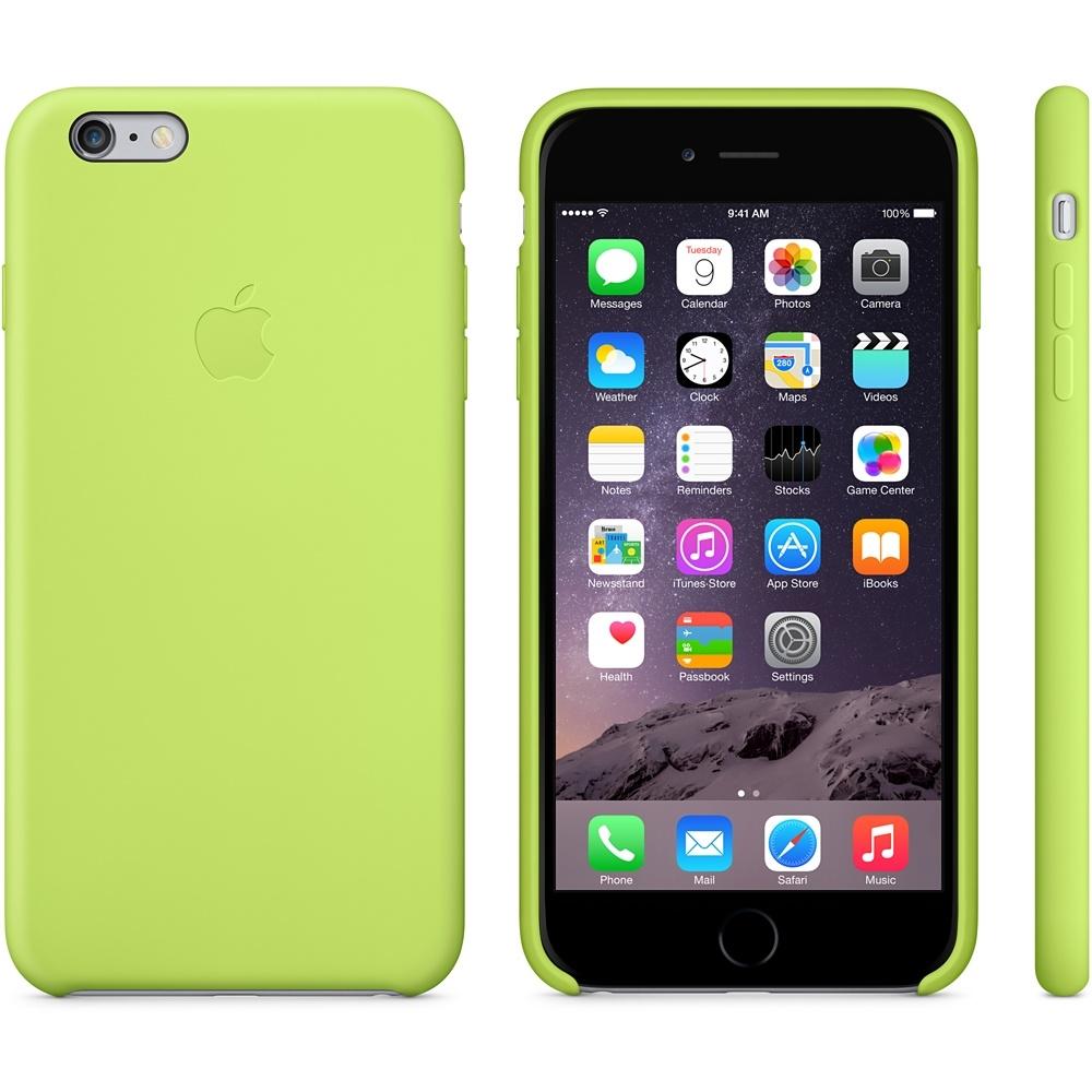 Capac de protectie spate Apple Silicone Case pentru iPhone 6 Plus 6s Plus, MGXX2ZM A Green 1