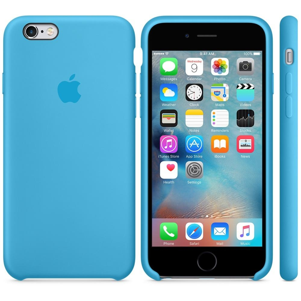 Capac protectie spate Apple Silicone Blue pentru iPhone 6s, MKY52ZM A 2