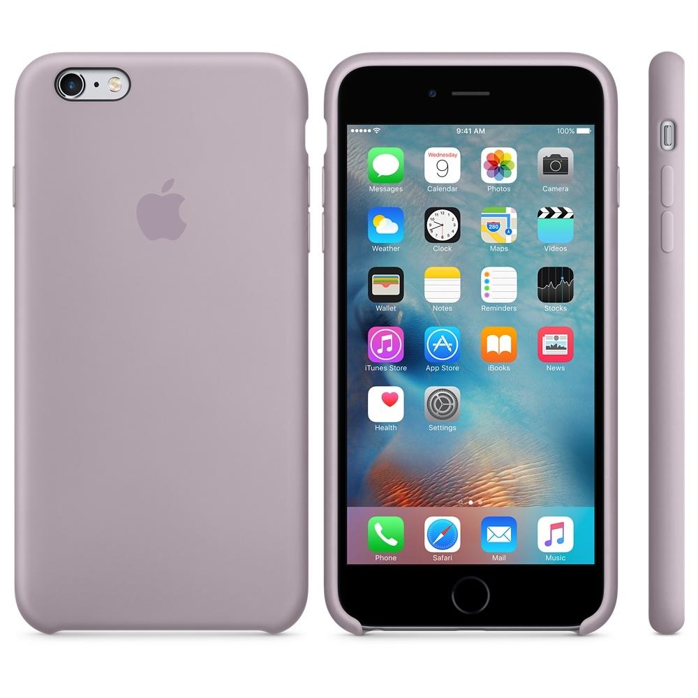 Capac protectie spate Apple Silicone Case Lavender pentru iPhone 6s Plus, MLD02ZM A