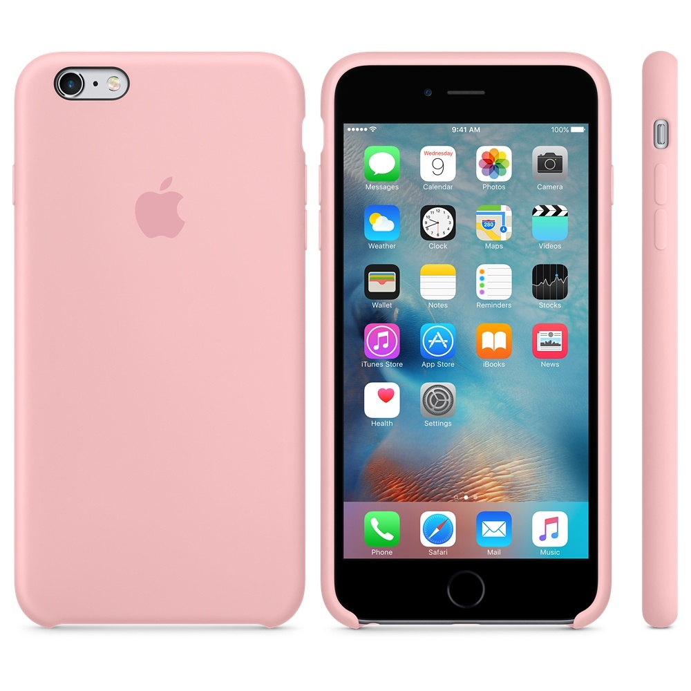 Capac protectie spate Apple Silicone Case Pink pentru iPhone 6s Plus, MLCY2ZM A