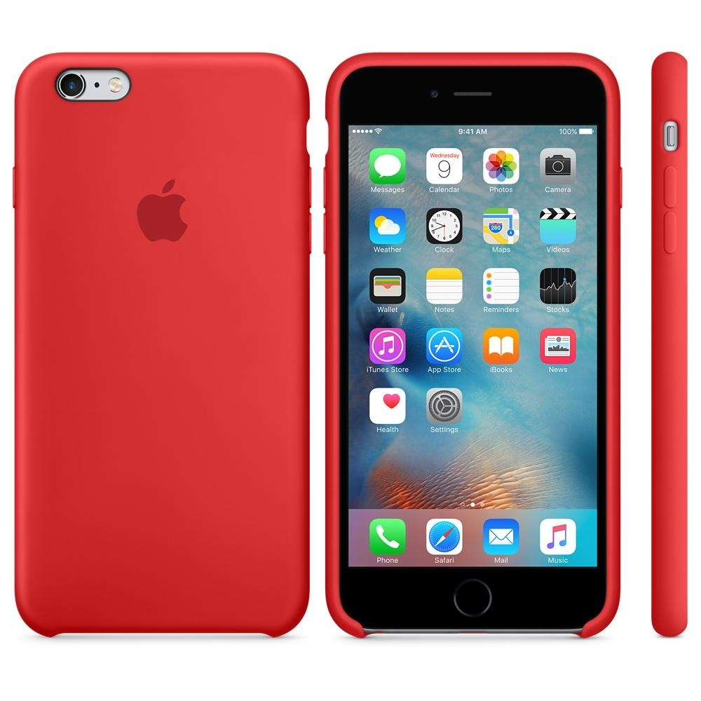 Capac protectie spate Apple Silicone Case Red pentru iPhone 6s Plus, MKXM2ZM A