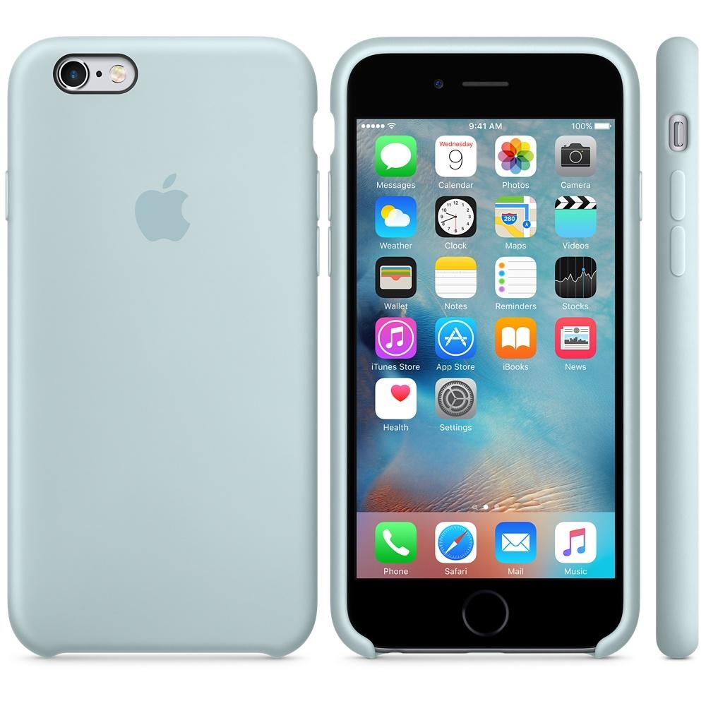 Capac protectie spate Apple Silicone Case Turquoise pentru iPhone 6s, MLCW2ZM A