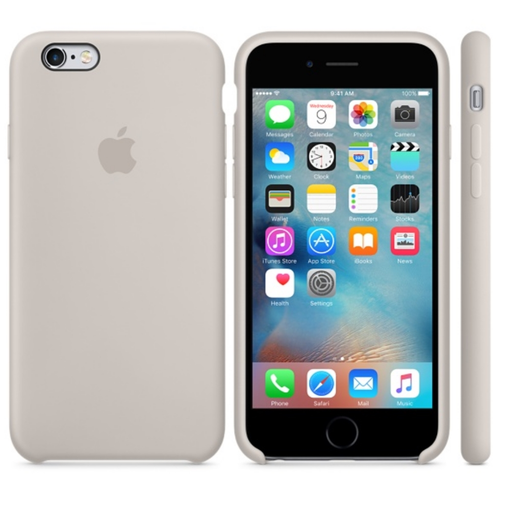 Capac protectie spate Apple Silicone Stone pentru iPhone 6s, MKY42ZM A