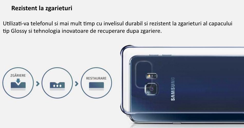 Capac protectie Glossy Cover pentru Samsung Galaxy S6 Edge+ (G928) 1