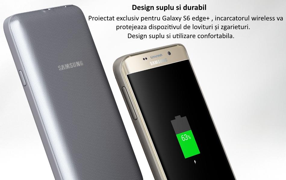 Capac spate cu acumulator 3400 mAh si incarcare wireless pentru Samsung Galaxy S6 Edge+ (G928) 1
