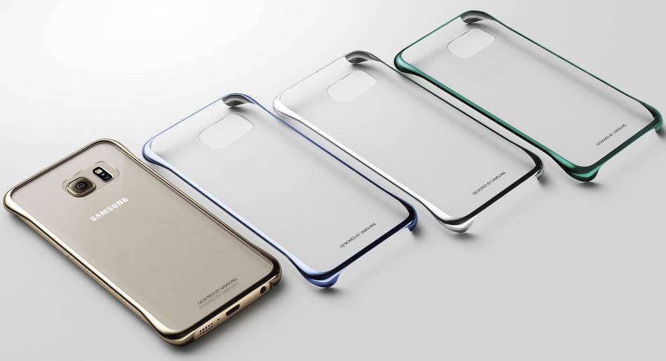 Husa Clear Cover Black pentru Samsung Galaxy S6 Edge (G925), EF-QG925BBEGWW