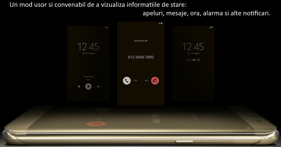 Husa Clear View Cover pentru Samsung Galaxy S6 Edge+ (G928)