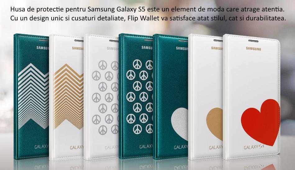 Husa Flip Wallet Cover Moschino pentru Samsung Galaxy S5 (G900)