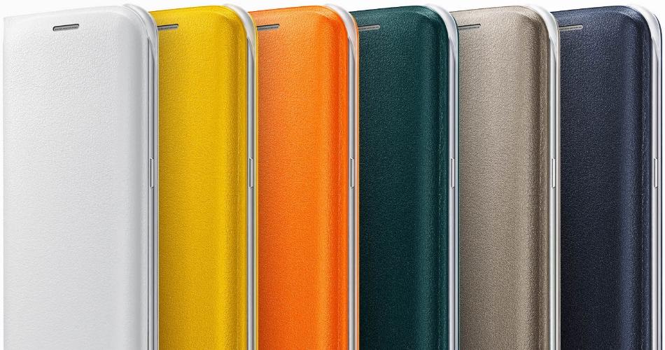 Husa Flip Wallet Cover PU pentru Samsung Galaxy S6 Edge (G925), EF-WG925PBEGWW