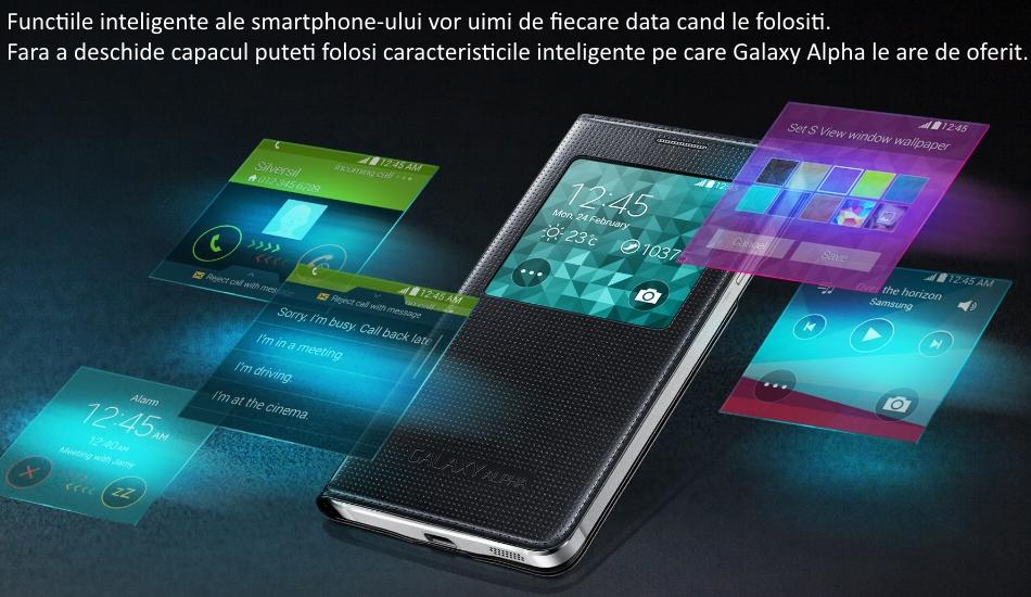 Husa S-View Cover pentru Samsung Galaxy Alpha (G850) 1