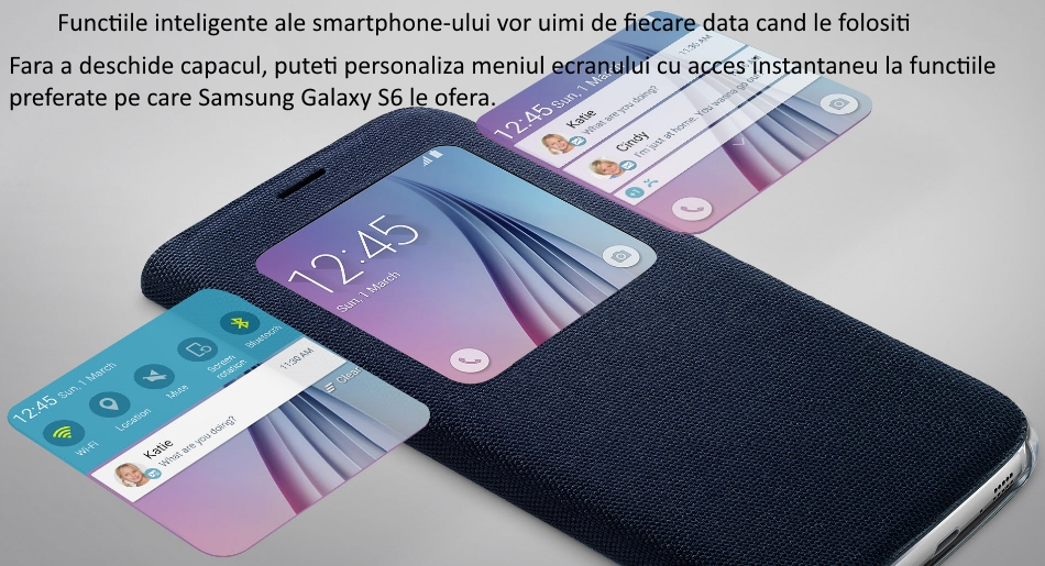 Husa S View Fabric pentru Samsung Galaxy S6 (G920) 1