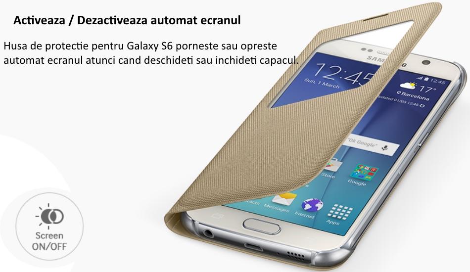 Husa S View Fabric pentru Samsung Galaxy S6 (G920) 2