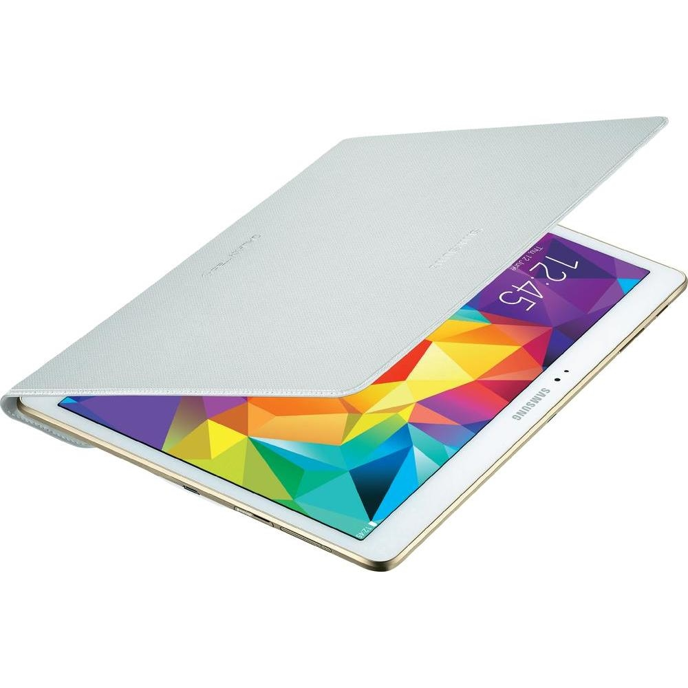 Tab S Book Cover Dazzling White ~ Husa simple cover dazzling white pentru samsung galaxy tab