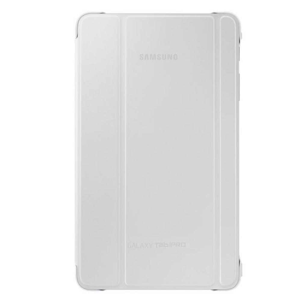 Samsung Book Cover White ~ Husa stand book cover white pentru samsung galaxy tab pro
