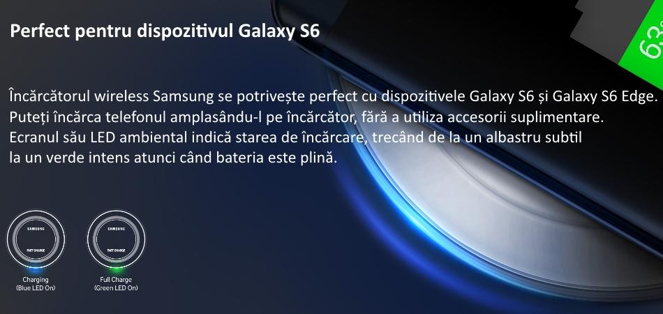 Incarcare Fast Charging Wireless pentru Samsung G928 Galaxy S6 Edge Plus, EP-PN920 1