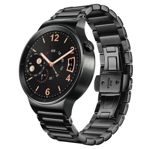 Smartwatch Smart Huawei Watch W1 otel inoxidabil negru, bratara zale metalice