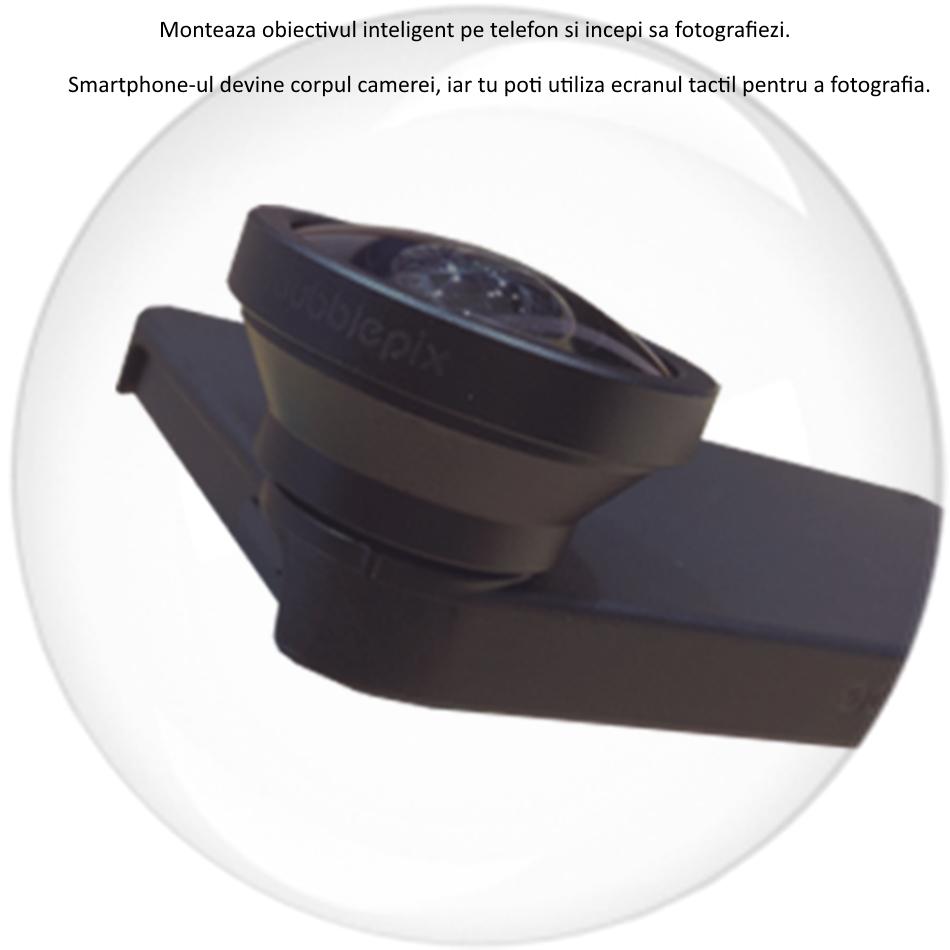 BubblePod Wide Ange Lens Pro Lens Pack - Lentila Wide, clema de prindere universala, BUBPROLENS 7