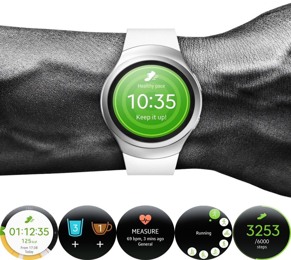 Ceas SmartWatch Samsung Gear S2 Classic, SM-R7320ZKA Black 2