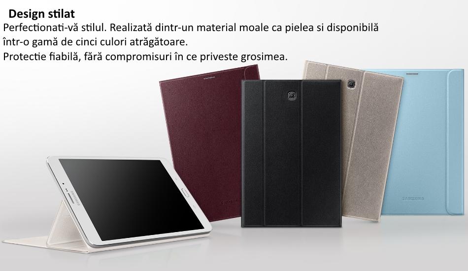 Samsung Tab Book Cover White : Husa book cover white pentru samsung galaxy tab s