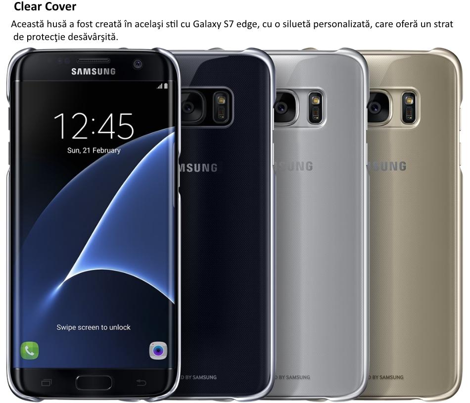 Husa Clear Cover pentru Samsung Galaxy S7 Edge (G935)