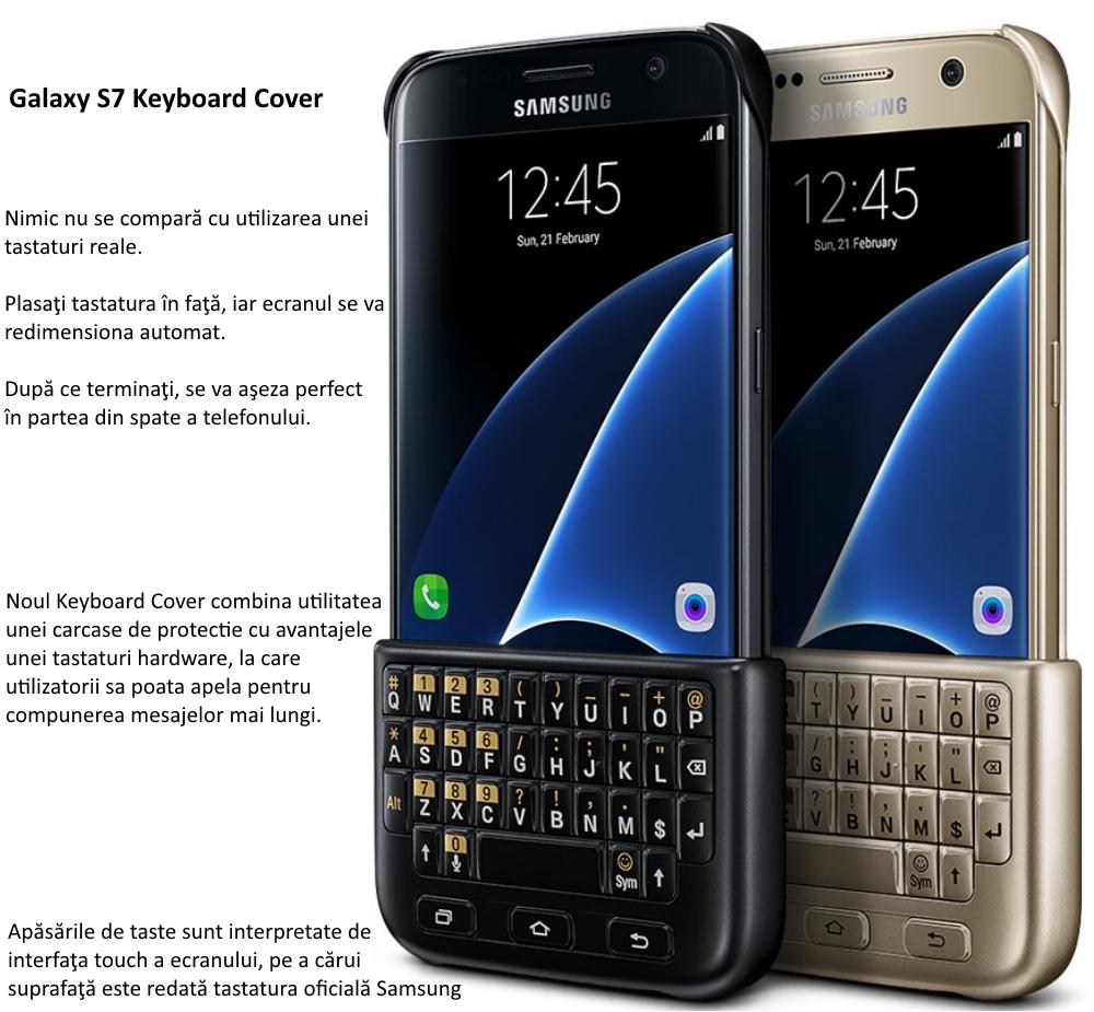 Husa protectie spate cu tastatura QWERTY pentru Samsung Galaxy S7 (G930) 1