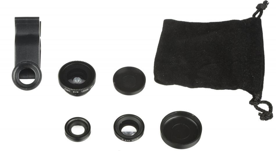 Set clema prindere lentila pentru smartphone 3 in 1 - Macro, Fish-eye, Wide Angle Lens, Kitvision KV31CLEN...