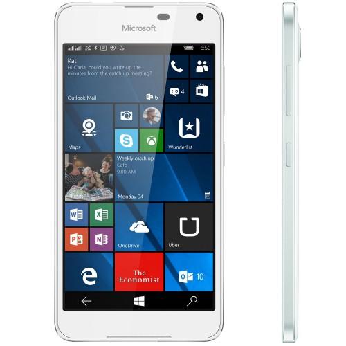 Telefon mobil Dual SIM Microsoft Lumia 650, 16GB, LTE, White Light Silver