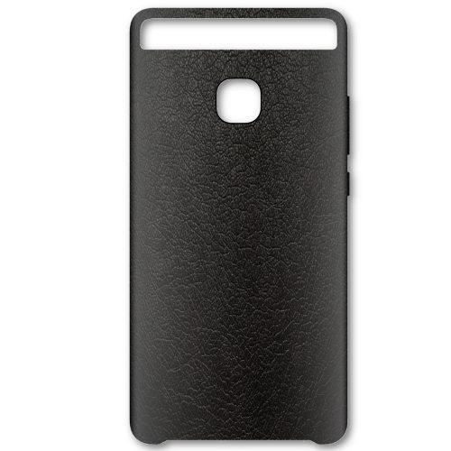 Capac protectie spate 51991469 pentru Huawei P9, Leather Black.
