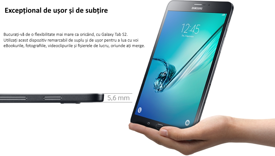 Tableta Samsung Galaxy Tab S2 8.0, Octa-Core, 32GB + 3GB RAM, LTE, T719 Black
