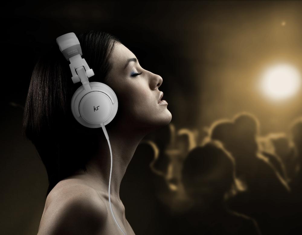 Casca cu fir stereo KitSound DJ, Over-Ear, White 6