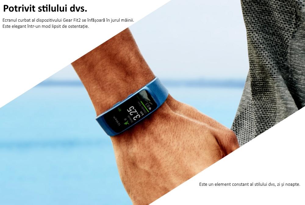 Ceas SmartWatch Samsung Gear Fit 2, SM-R360 Blue 1