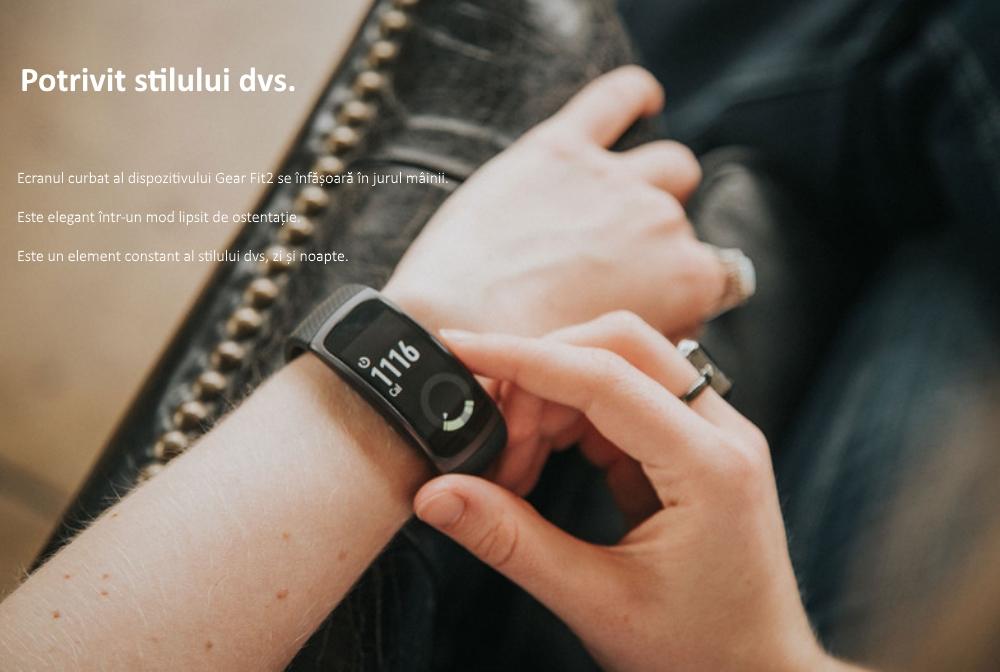 Ceas SmartWatch Samsung Gear Fit 2, SM-R360 Dark Gray 7
