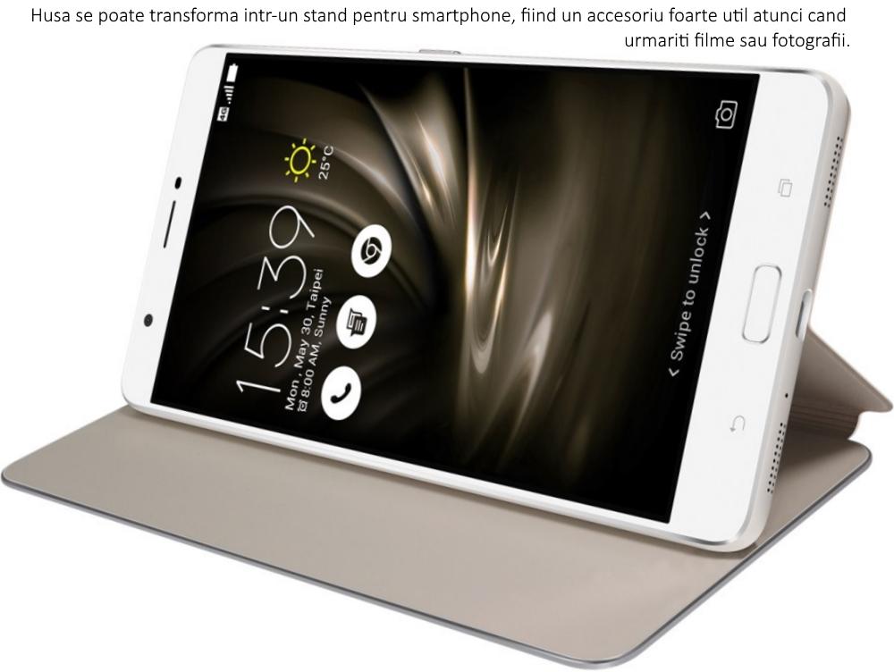 Husa Folio Cover Gold pentru Asus Zenfone 3 Ultra ZU680KL, 90AC01I0-BCV012 1