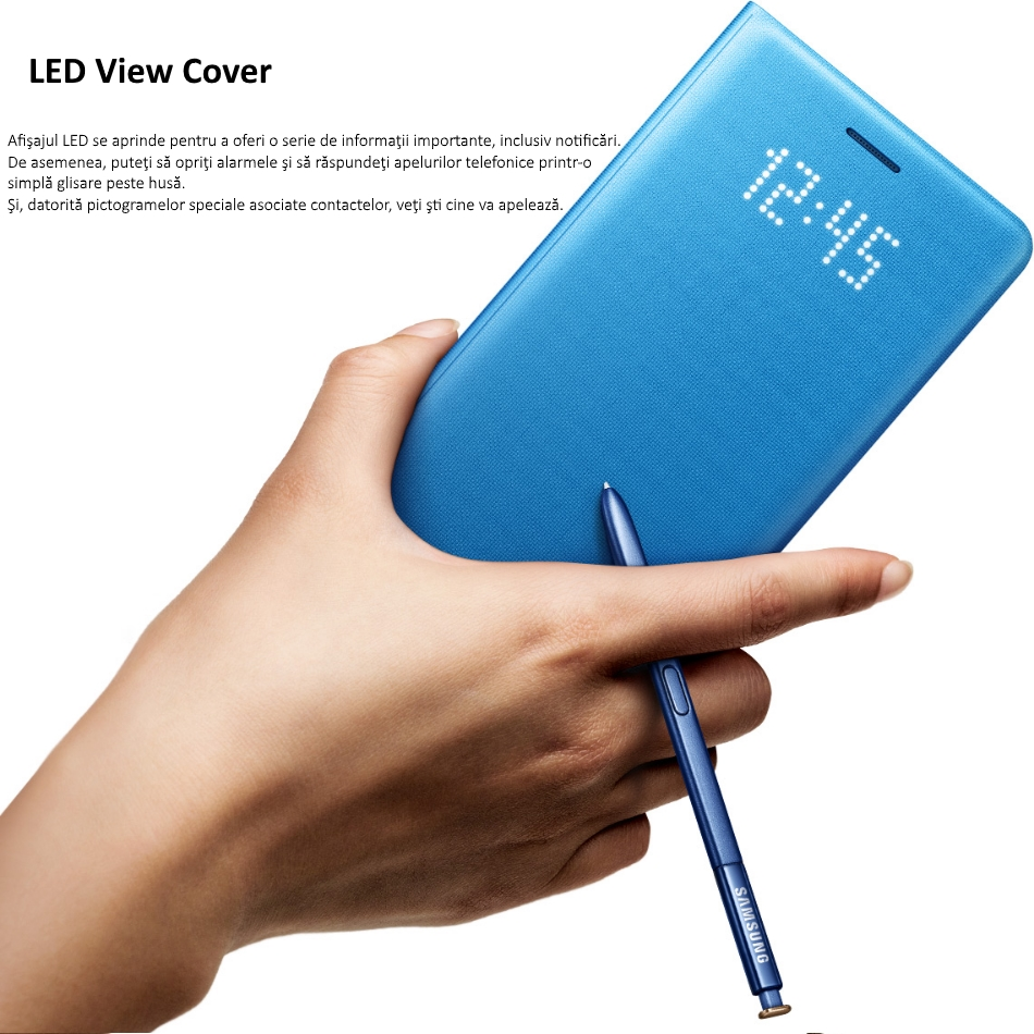 Husa protectie Led View Cover pentru Samsung Galaxy Note 7 (N930), EF-NN930PL Blue