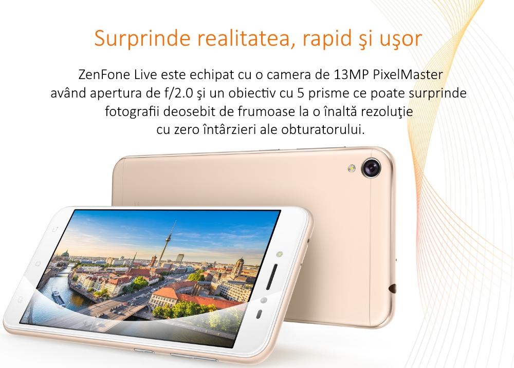 telefon mobil dual sim asus zenfone live zb501kl quad core 1 4ghz 16gb 2gb ram lte shimmer. Black Bedroom Furniture Sets. Home Design Ideas