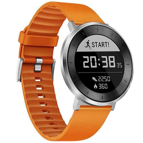 Smartwatch Huawei Fit, Smart Fitness Watch, Moonlight Silver-Orange Sport Band, Small 2