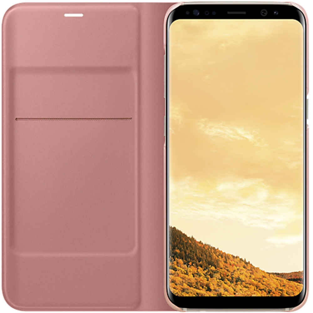 Husa Clear View Stand Cover Pentru Samsung Galaxy S8 Plus