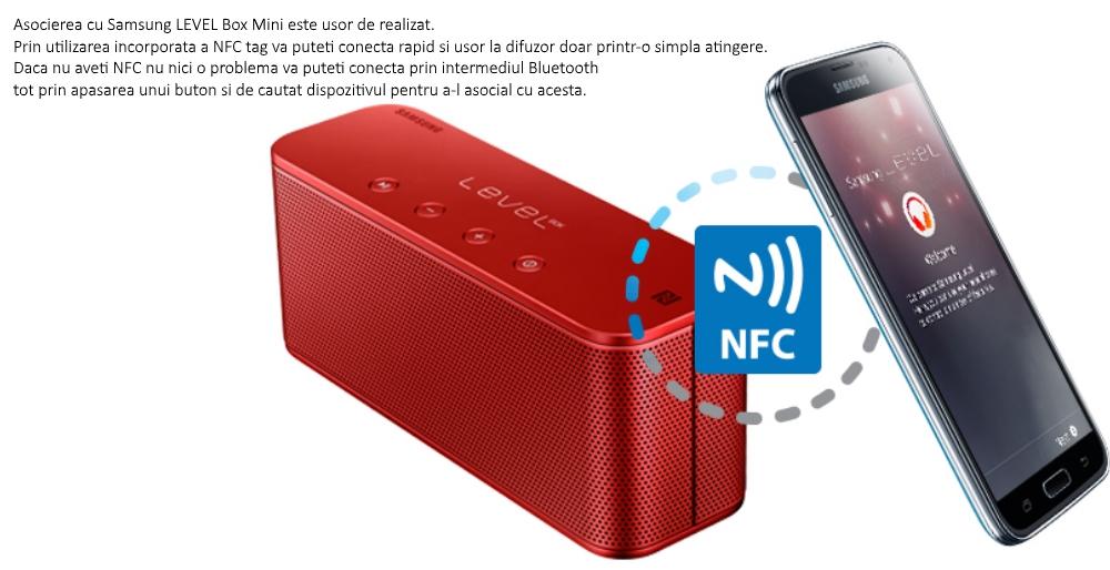 Boxa portabila Samsung Level Box Mini EO-SG900DBEGWW, bluetooth, Negru 2