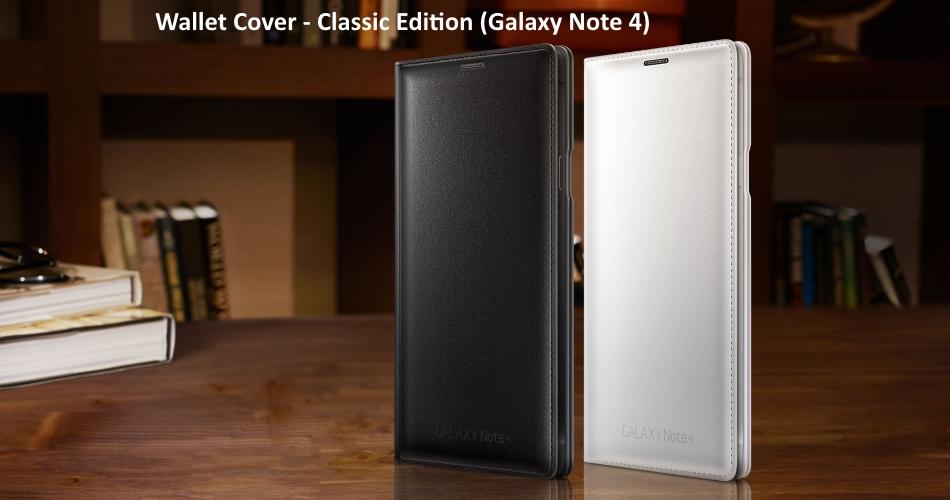 Husa  protectie Flip Wallet Classic Edition pentru Samsung Galaxy Note 4, EF-WN910FKEGWW Black 4