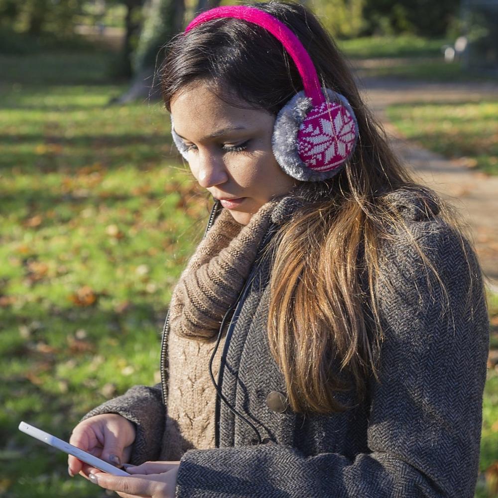 Aparatori urechi Fair Isle, cablu cu mufa de 3.5mm, KSMFFPI2 txt